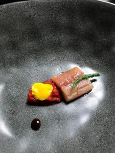 Gazpacho de fresas y sardina